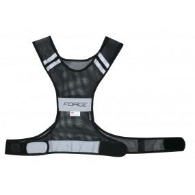 Светлоотразителна жилетка Force Safe черна