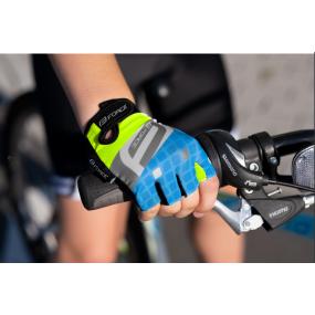 Детски ръкавици Force Square fluo-blue