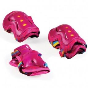 Комплект детски протектори за момиче - розови
