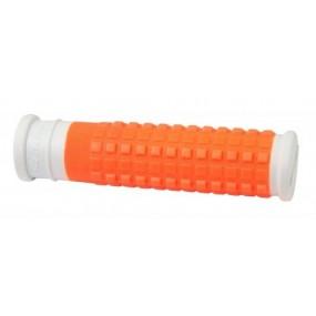 Вело дръжки Force Rubber / бяло и оранжево