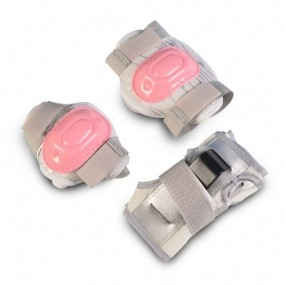 Комплект детски протектори за момиче - розови / S
