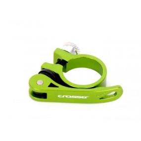 Алуминиева скоба за седло Crosser 35мм QR / Зелена